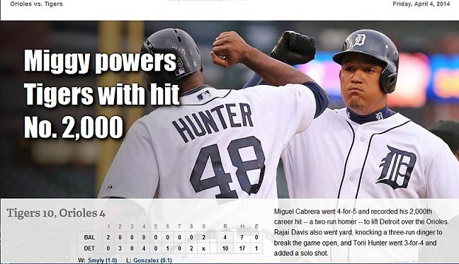 2014 DETROIT TIGER SCHEDULE AND RESULTS 13634840874_6c14254a76_b