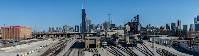 Chicago Amtrak yard and tracks into Union Station