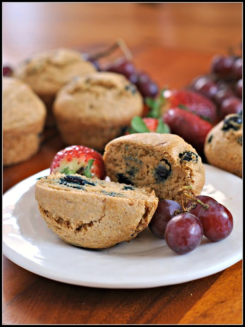 Healthy Whole Wheat Blueberry Muffins 4