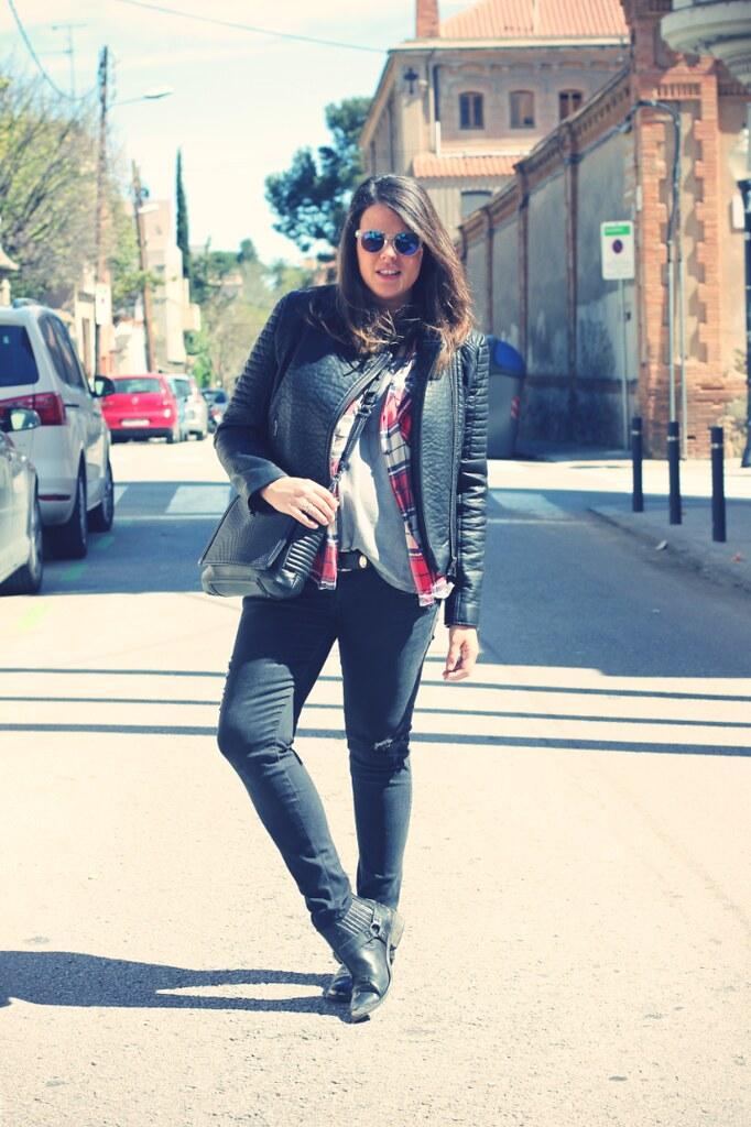 Look negro y cuadros - Monicositas
