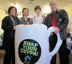 At Dunbar fairtrade coffee morning with Iain Gray MSP