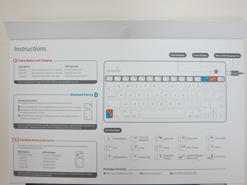 Moshi VersaKeyboard for iPad Air - Instructions