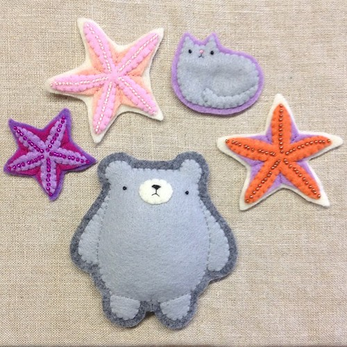 More, more, more! #wip #migrationgoods #starfish #pudgybear #catloaf