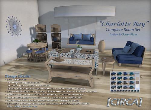 [CIRCA] - Charlotte Bay - Complete Room Set - Mono Blues