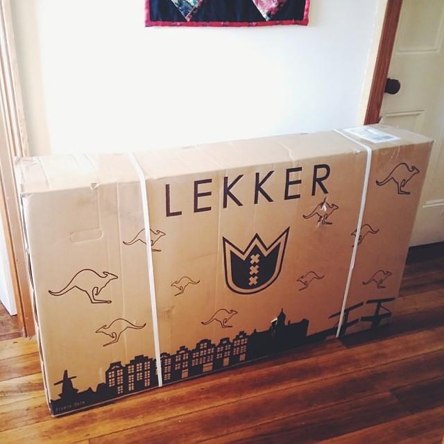 She's here! #lekker #cutebike