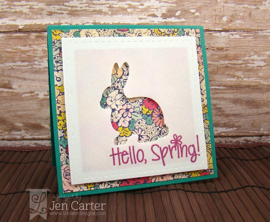 Hello Spring Bunny Side