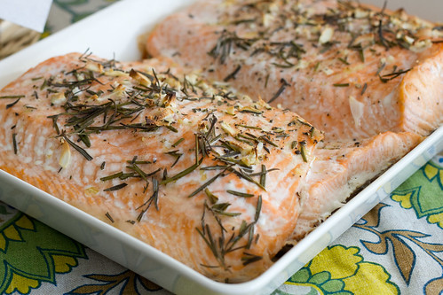 Nami-Nami Easter brunch 2014: Rosemary and garlic salmon.