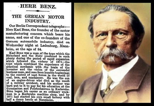 4th April 1929 Of Karl Benz Bradford Timeline