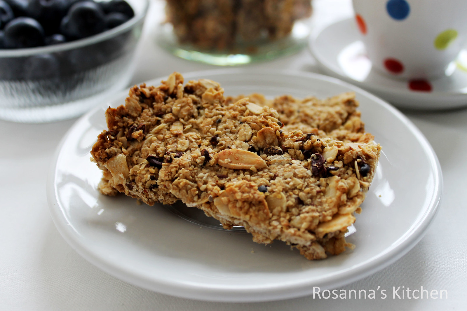 honey almond oat bars
