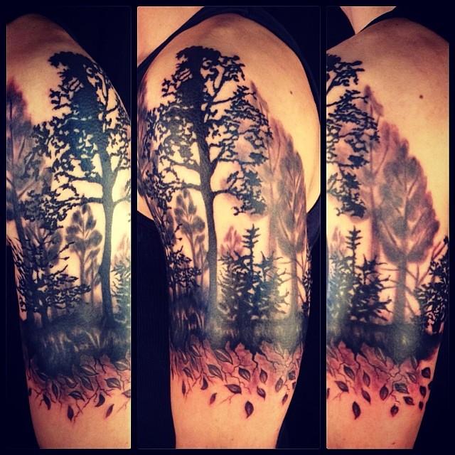 Wild west tattoo