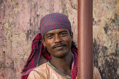 Portrait of a working man in Kolkata, India.