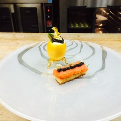 Galleries The Golden Egg!! Cauliflower foam , Egg Salad, Caviar