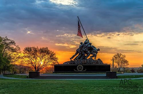 sun detail arlington sunrise dawn virginia dc washington nikon marine memorial flag clarity corps topaz iwo jima d600 denoise topazlabs