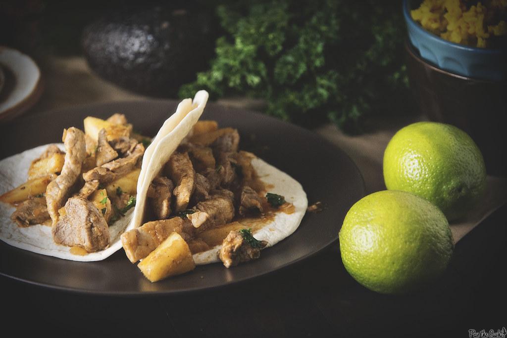 Pork and Pineapple Tacos || GirlCarnivore.com