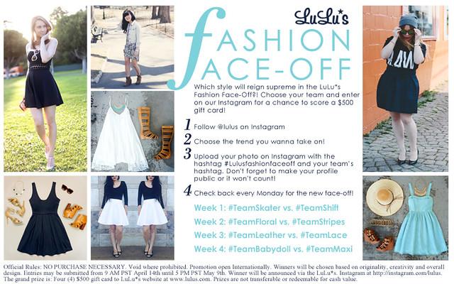 LuLu*s Fashion Face-Off contest
