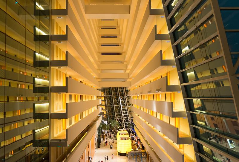 MBS hotel lobby balcony view 2