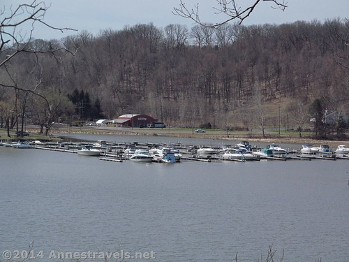 Looking to the south end of Irondequoit Bay. I think most of the boats are still in dry dock. Abraham Lincoln Park, Webster, New York