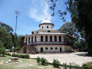 Äthiopische Kirchen sind oft rund...