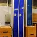 Tall blue locker unit