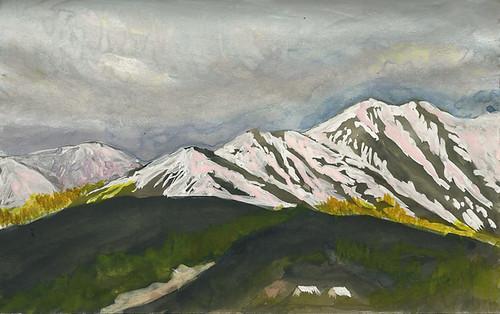 View from Grande Denali Lodge, Alaska