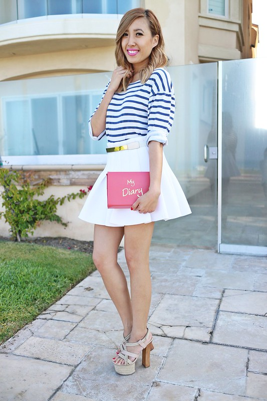 lucky magazine contributor,fashion blogger,lovefashionlivelife,joann doan,style blogger,stylist,what i wore,my style,fashion diaries,outfit,skinny bags,hm,shop luna b,bakers,bakers babes,nautical,summer,summer style,full skirts,you got it right,people magazine,dear diary