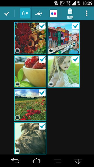 複数画像を指定してもFlickrアイコンが消えない
