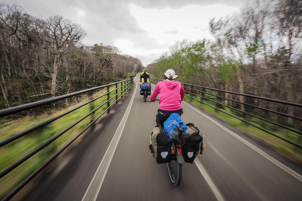 Elfin Road cycle road near Kitahiroshima, Hokkaido, Japan