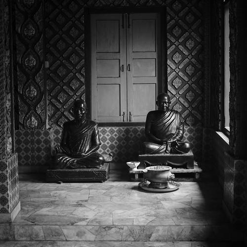 Inside the Dragon Boat temple. Wat Mai Suwankiri, Tumpat, Kelantan.