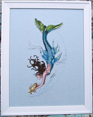 Mediterranean Mermaid, framed
