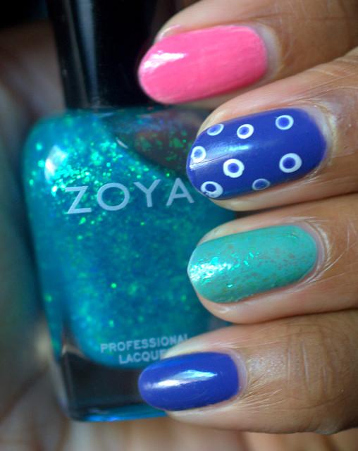 Zoya Skittles nails