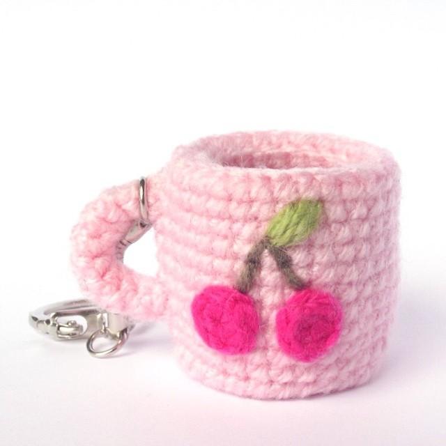 Amigurumi Tags For Instagram : Another amigurumi cup with cherries Explore PetitsPixels ...