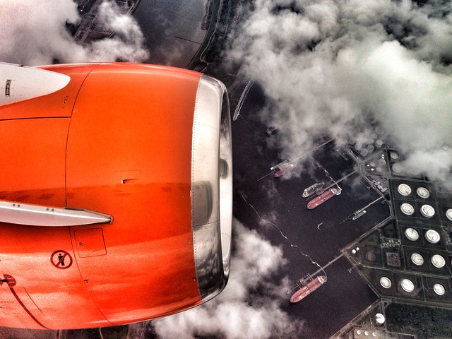 Flying over Rotterdam