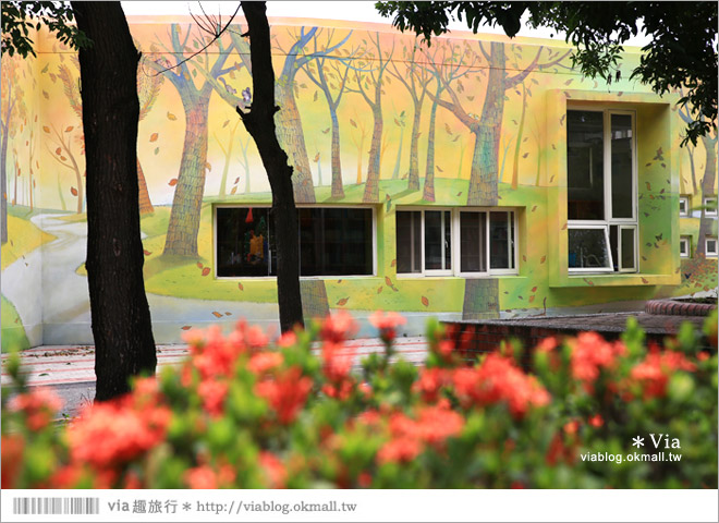 【彰化村東國小】彰化彩繪國小~夢幻繪本風!童話小屋居然在校園裡現身了32