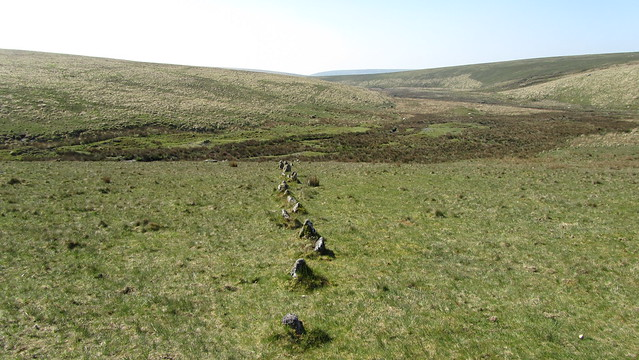Stone Row near Dry Lake