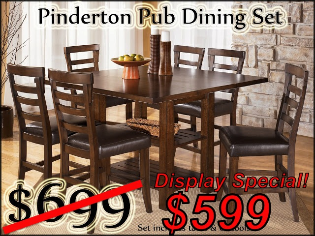 Pinderton Pub Dining Set-6 stools copy