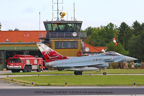 German Air Force Eurofighter EF2000 31+00 taxing