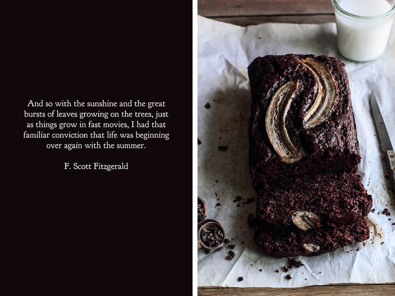 Chocolate Cacao Nib Banana Bread