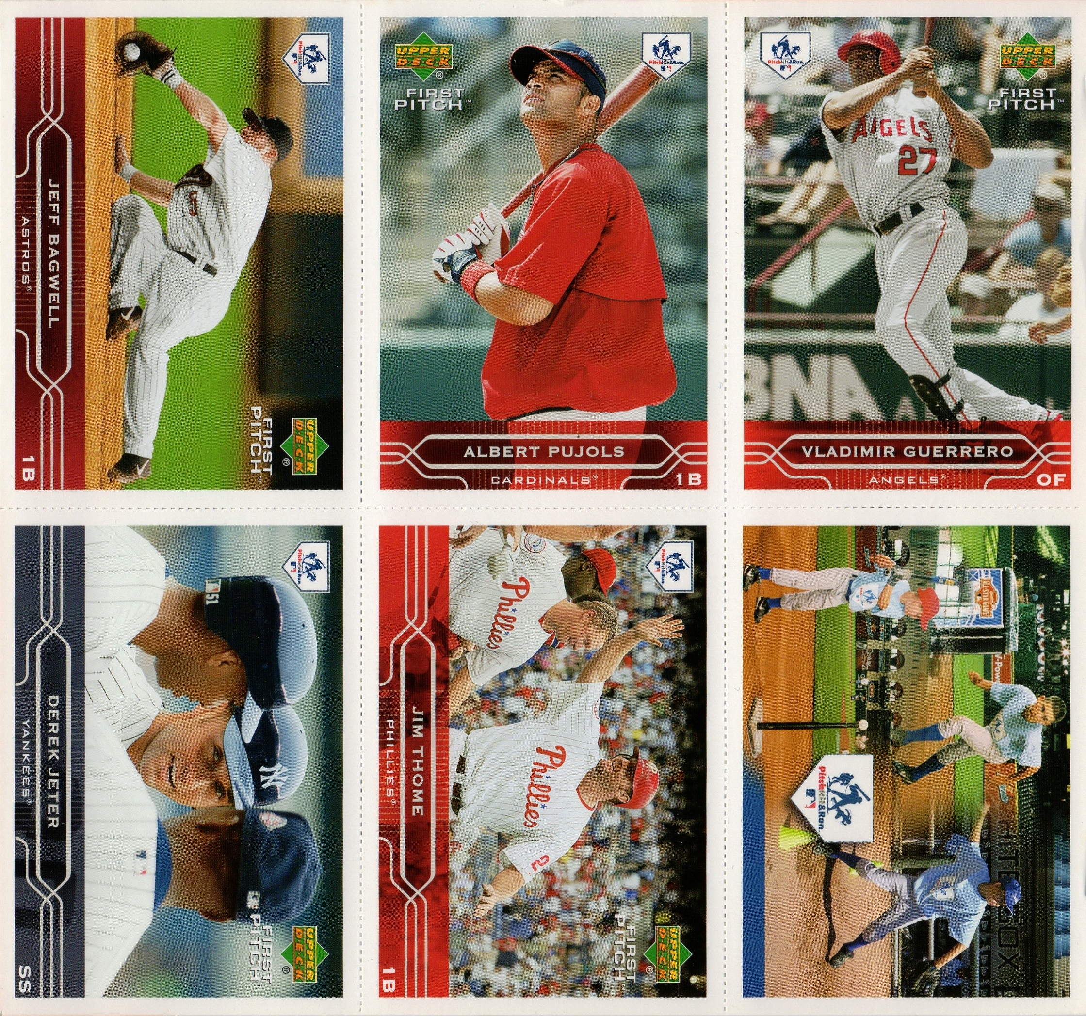 2005 Upper Deck Pitch, Hit & Run Panel