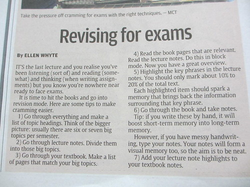 Revising For Exams