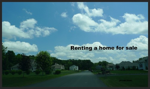 Renting a home for sale