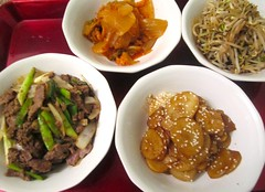 KOREAN DINNER – BULGOGI, GAMJAJORIM, KIMCHEE & SUKJU NAMUL    @ Home by Hans susser