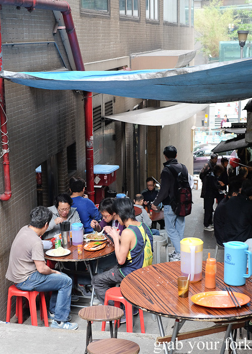Al fresco dining in alleyways and on staircases in the Central district, Hong Kong