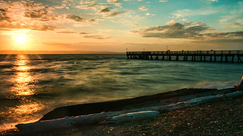 blue sunset sun green yellow waves beams ndfilter kayakpt