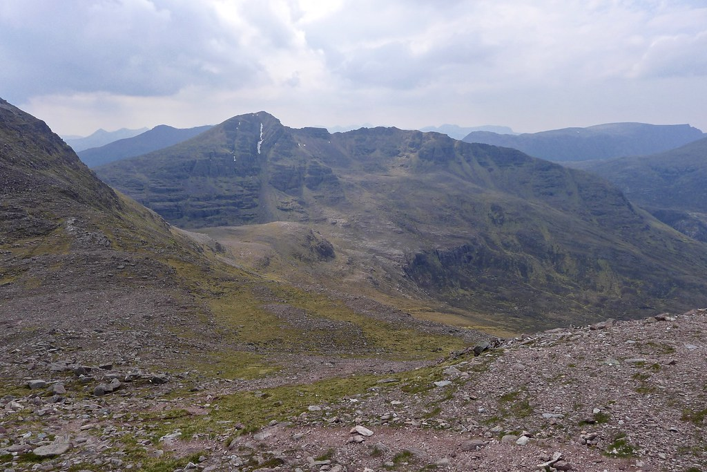 Beinn Tarsuinn from Sgurr Ban's southern slopes