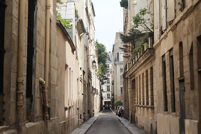 Narrow streets in Saint-Germain, Paris