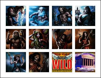 free Battle of the Gods slot game symbols