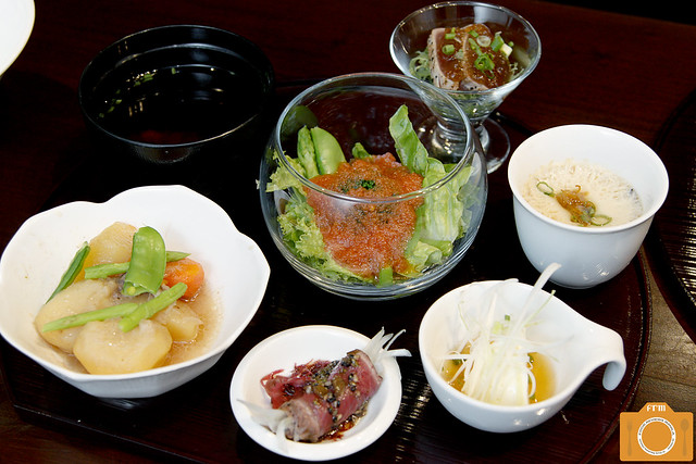 Magosaburo Lunch Set appetizers