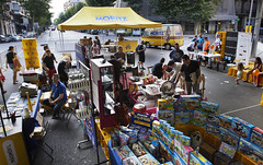 stall(0.0), crowd(0.0), market(1.0), bazaar(1.0), flea market(1.0), marketplace(1.0), fair(1.0), public space(1.0),