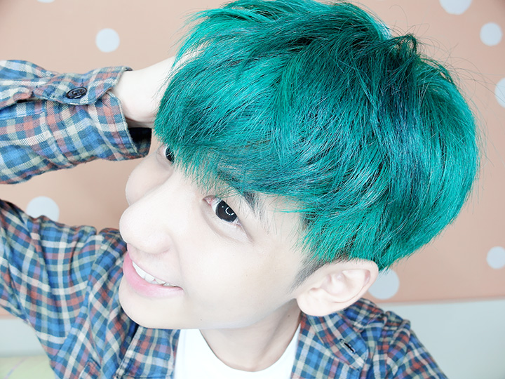 typicalben with green hair
