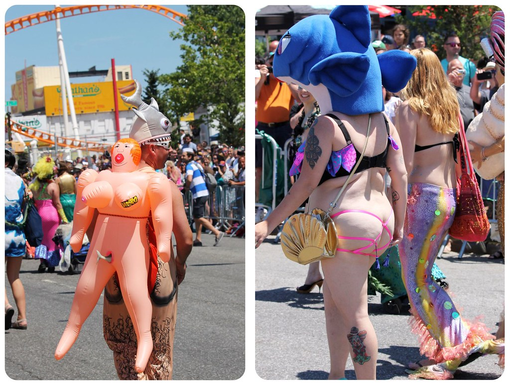 Coney Island Mermaid Parade Butt